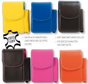 Zig Box Echt Leder farbig mit Magnetverschluss