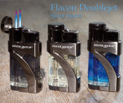 Silver Match FLACON Double Jet