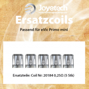 COIL Joyetech eVic Primo mini 0,25 Ohm 5er Pack