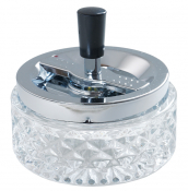 Rotationsascher 12cm Klarglas