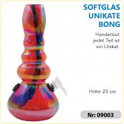 Glas Bong UNIKAT Spiegelglas y rötlich ca 23cm