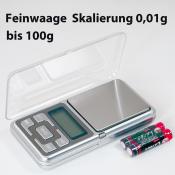 Feinwaage bis 100g Sk 0,01g