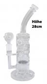 Glas Bong Percolator Höhe ca 28cm klar