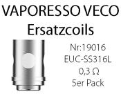 Vaporesso VECO Solo Coils EUC-SS316L 5er Pack