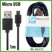 TekMee Micro USB Kabel 1m