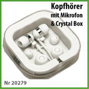 TekMee Kopfhörer mit Mikrofon in Crystal Box