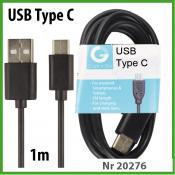 TekMee USB  Type C Kabel 1m