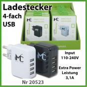 TekMee USB-Netz Universal POWER 4-fach Ladestecker