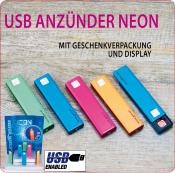 USB Anzünder ALU Neon eloxiert