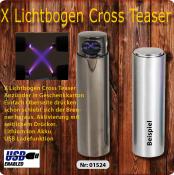 Zylinder CROSS TASER Lichtbogenfeuerzeug Silver