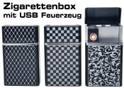 Zigarettenbox mit USB Feuerzeug