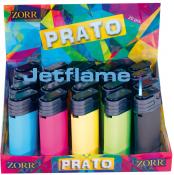 Flat-JET Feuerzeug gummiert farbig