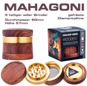 Grinder MAHAGONI 4-teilig 60mm