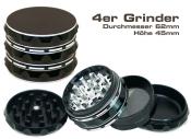 Grinder ALUMINIUM schwarz 4-teilig 62mm