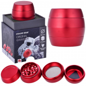 Luxusgrinder Aluminium 4-teilig 50mm Champ High GLOWING RED
