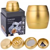 Luxusgrinder Aluminium 4-teilig 50mm Champ High GOLD