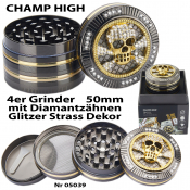 Luxusgrinder 4-teilig 50mm Champ High SKULL