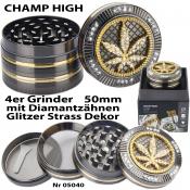Luxusgrinder 4-teilig 50mm Champ High HANFBLATT