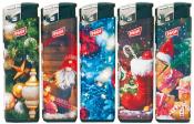 Elektronikfeuerzeug bunte Weihnachtszeit