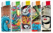 Elektronikfeuerzeug Graffittikunst