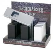 Taschenascher ALU mit Schiebemechanik VE 12