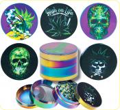 Grinder Metall 4-teilig Rainbow Skull 50mm