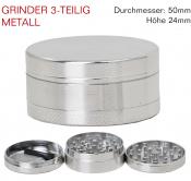 Grinder Metall chrom 3-teilig 50mm Kompakt
