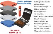 ToBOX Tabakdose mit Blättchen/Feuerrzeughalter