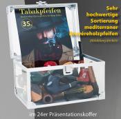 Mediterrane Bryérepfeifen im 24er Koffer für 9mm Filter